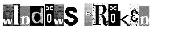 Windows Broken font
