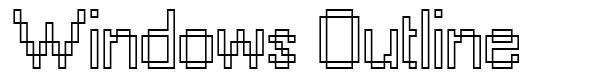 Windows Outline フォント