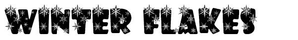 Winter Flakes font