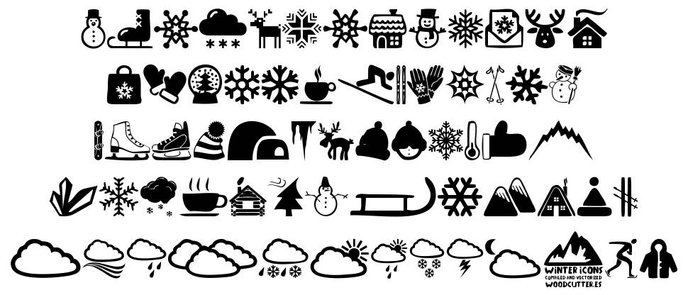Winter Icons font