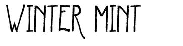 Winter Mint font