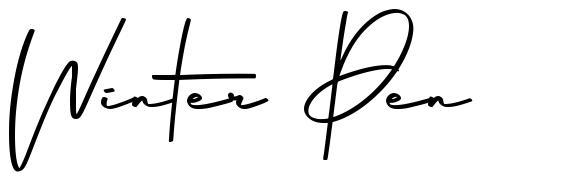 Winter Pen フォント