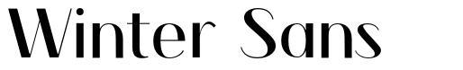 Winter Sans font