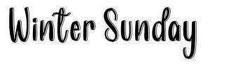 Winter Sunday font