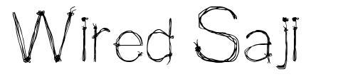Wired Saji font