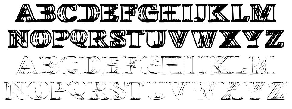 Wireframe Davenport font