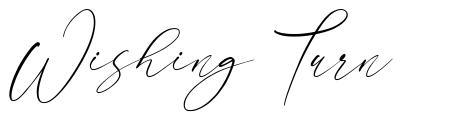 Wishing Turn フォント