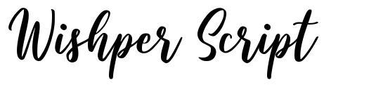 Wishper Script フォント