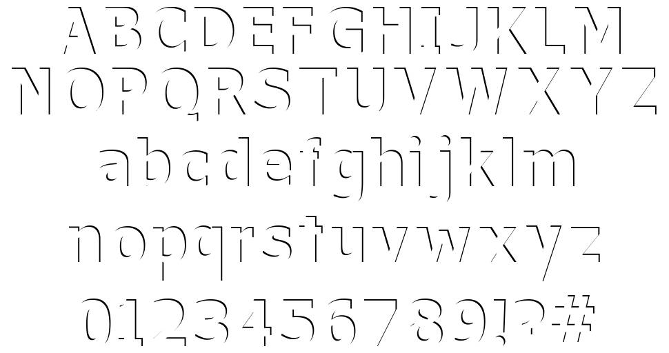 Without a Trace font