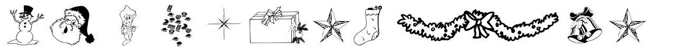 WM Christmas 字形