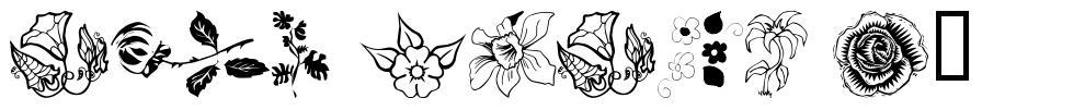 wmflowers1 font