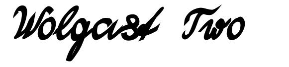 Wolgast Two 字形