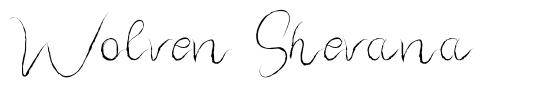 Wolven Shevana czcionkę
