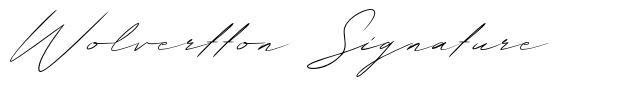 Wolvertton Signature