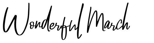 Wonderful March font