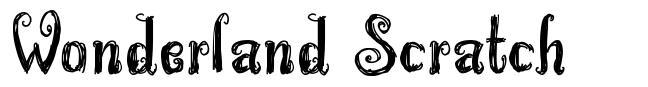 Wonderland Scratch font