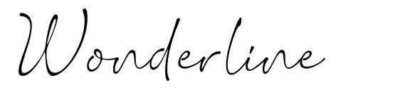 Wonderline schriftart