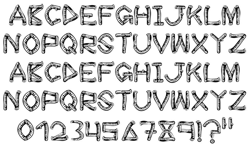 Wood Sticks font