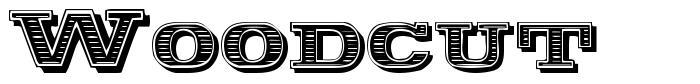 Woodcut font