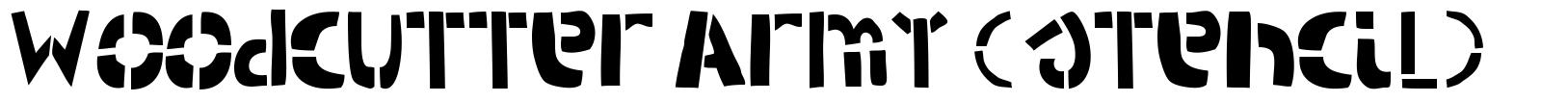 Woodcutter Army (stencil) font