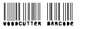 Woodcutter Barcode fuente