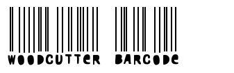 Woodcutter Barcode font