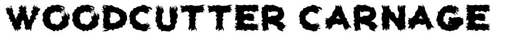 Woodcutter Carnage font