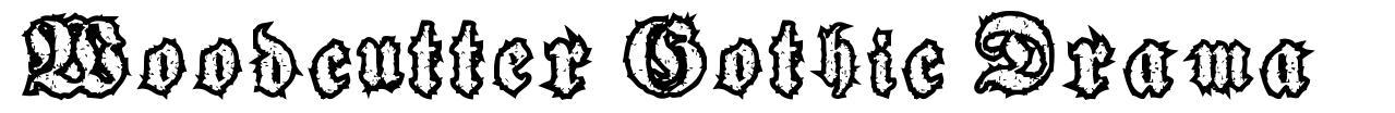 Woodcutter Gothic Drama font