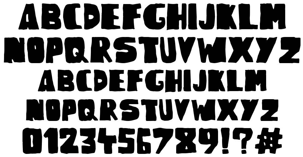 Woodcutter Rude Press font