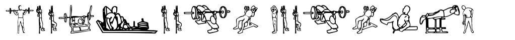 Workout Routine font