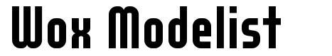 Wox Modelist font