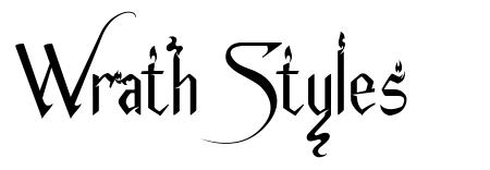 Wrath Styles フォント