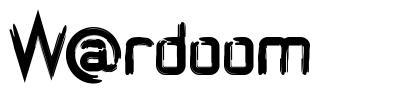 W@rdoom font