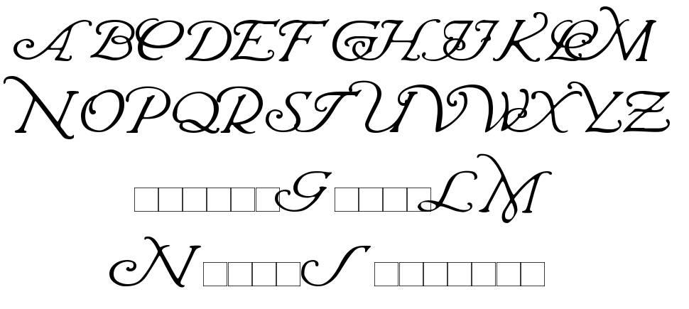 Wrenn Initials schriftart