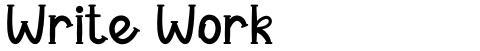 Write Work