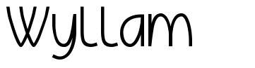 Wyllam 字形