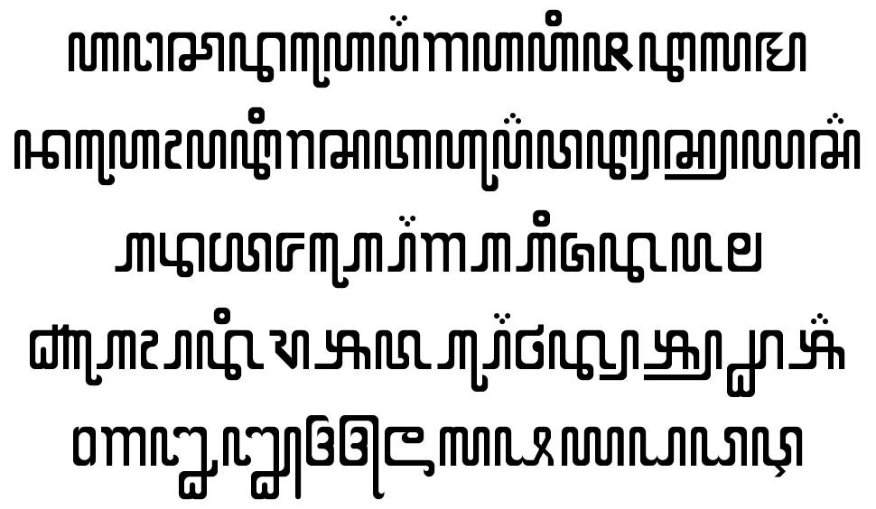 X Code from East font
