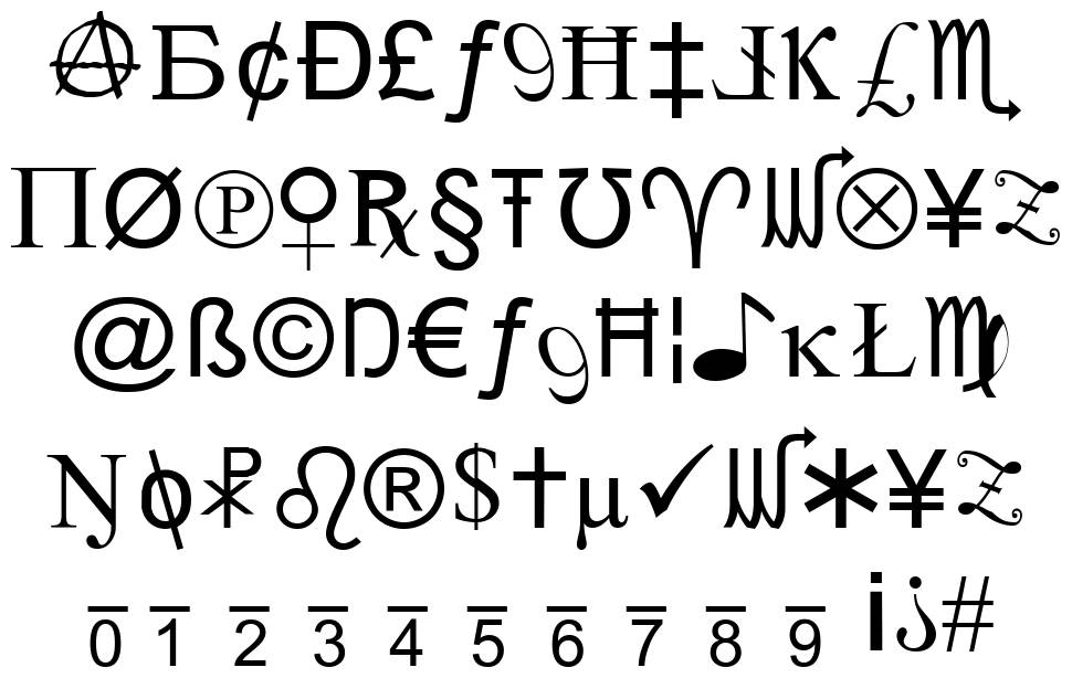 X-Cryption font