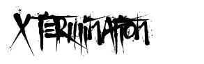X Termination schriftart
