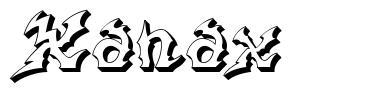 Xanax フォント