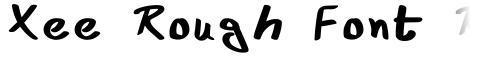 Xee Rough Font Regular