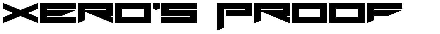 Xero's Proof font