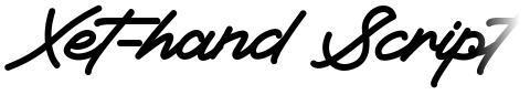Xet-hand Script