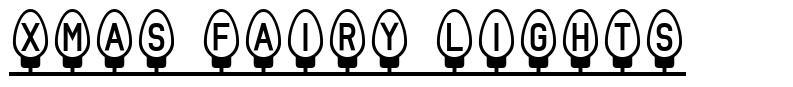 Xmas Fairy Lights font