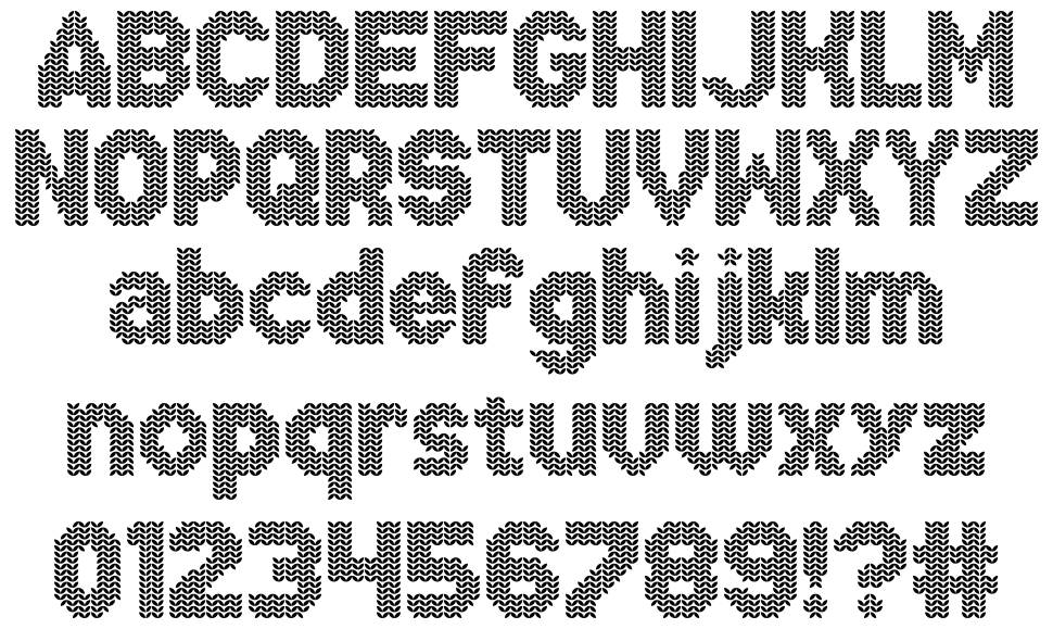 Xmas Sweater Stitch font