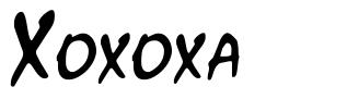 Xoxoxa font