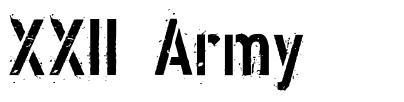XXII Army 字形
