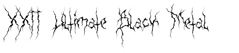 XXII Ultimate Black Metal