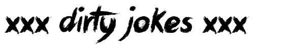 xxx Dirty Jokes xxx font