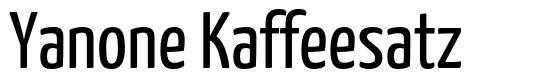 Yanone Kaffeesatz font